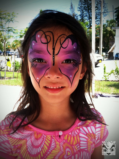 Face Painting at an ice cream shop opening
