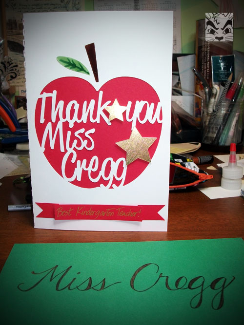 Miss Cregg card I made