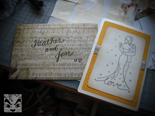 Wedding card for Heather and JW!