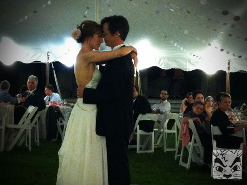 The first dance at the wedding! Held in the Hudson Valley. It was beautiful.