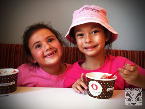 Big smiles at Red Mango.