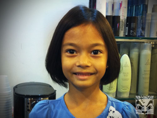 She also wanted a short haircut! My baby is growing up so fast!