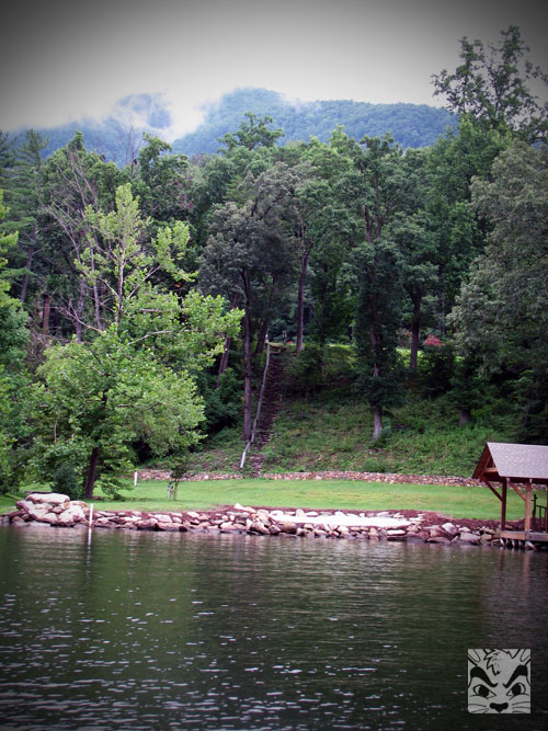 Did you know part of Dirty Dancing was filmed at Lake Lure? These stairs is where Baby was carrying the big watermelon. Do you remember that scene?